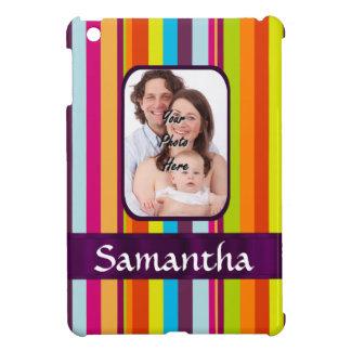 Raya multicolora del caramelo iPad mini cárcasas