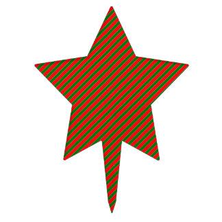 Raya-Navidad diagonal del bastón de caramelo rojo Decoraciones Para Tartas
