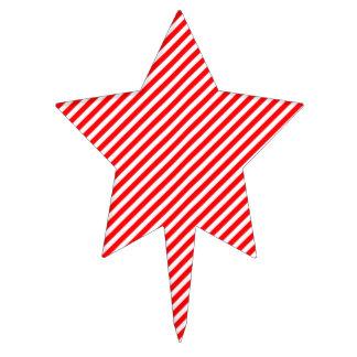 Raya-Navidad diagonal del bastón de caramelo rojo Decoraciones De Tartas