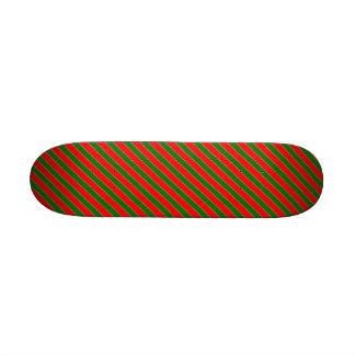 Raya-Navidad diagonal del bastón de caramelo rojo Tabla De Skate