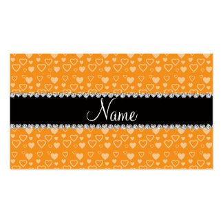 Raya negra anaranjada conocida de encargo de los c tarjetas de visita