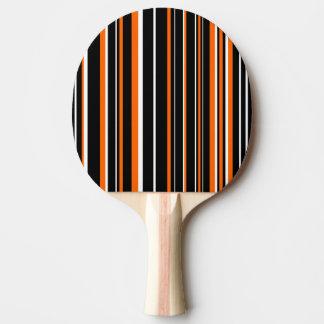 Raya negra, blanca, anaranjada moderna del código pala de ping pong