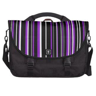 Raya negra, blanca, púrpura del código de barras bolsas para ordenador