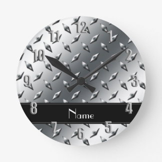 Raya negra conocida de encargo del acero de la reloj de pared