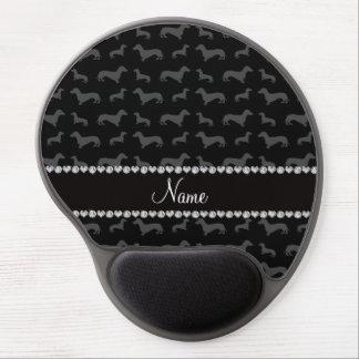 Raya negra conocida de encargo del corazón del alfombrilla para ratón de gel