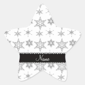 Raya negra de plata blanca conocida de encargo de pegatina en forma de estrella