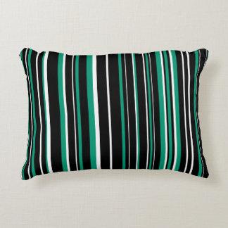 Raya negra, esmeralda adaptable del verde, y cojín decorativo