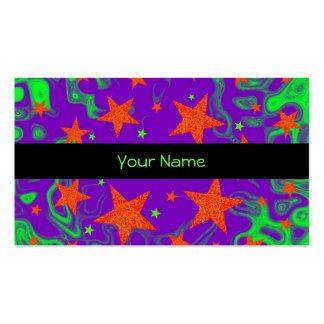 Raya negra hechizada de la plantilla de la tarjeta tarjetas personales