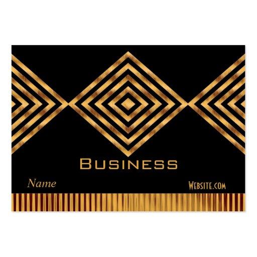 Raya negra retra del oro de la tarjeta de visita d