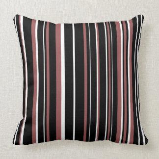 Raya negra, rojo marrón, blanca del código de almohadas