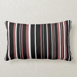 Raya negra, rojo marrón, blanca del código de cojines