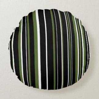 Raya negra, verde oliva adaptable del verde, y