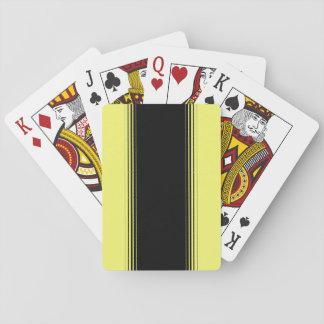 Raya negra y amarilla barajas de cartas