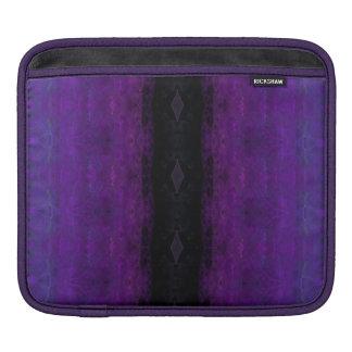 Raya negra y púrpura del diamante fundas para iPads