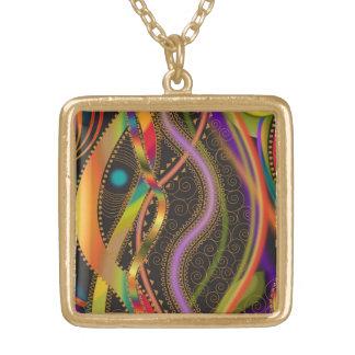 Raya ondulada de Lumina por el collar y la cadena