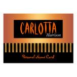 Raya personal del oro del café de la tarjeta de pr plantilla de tarjeta personal