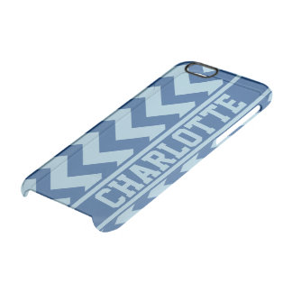 Raya personalizada de Chevron del atasco de los Funda Clearly™ Deflector Para iPhone 6 De Uncommon