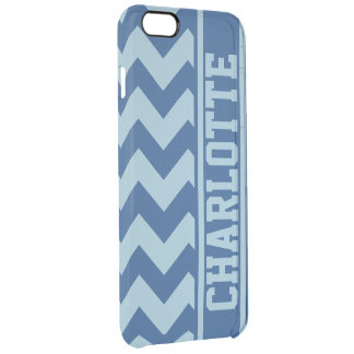 Raya personalizada de Chevron del atasco de los Funda Clearly™ Deflector Para iPhone 6 Plus De Unc