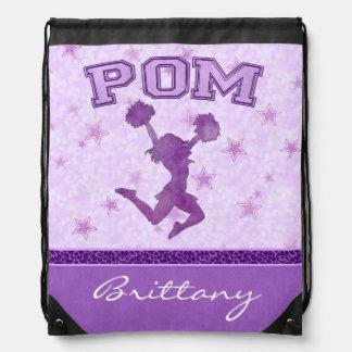 Raya púrpura con monograma de la impresión del mochila