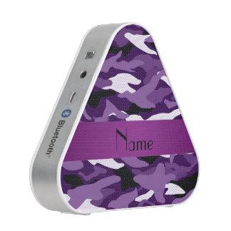 Raya púrpura conocida personalizada de la púrpura altavoz bluetooth