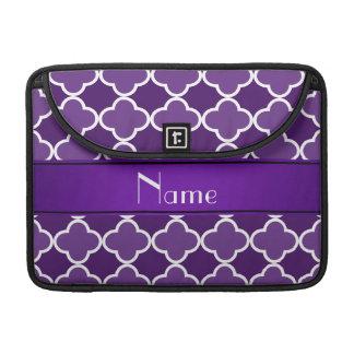 Raya púrpura conocida personalizada de la púrpura funda para macbook pro