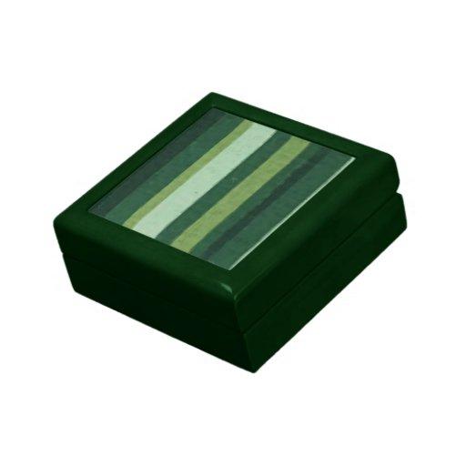 Raya retra del Grunge de la verde lima Cajas De Recuerdo