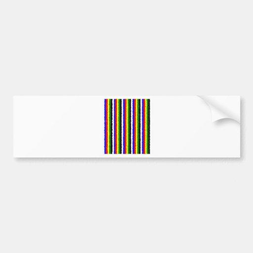 Raya rizada de los colores básicos pegatina de parachoque