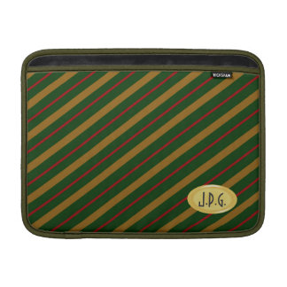 """Raya roja 13"""" del lazo del oro verde de los hombre fundas MacBook"""