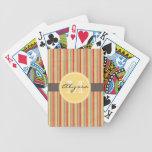 Raya roja con monograma baraja cartas de poker