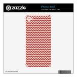 Raya roja de moda de Chevron Skins Para iPhone 4S