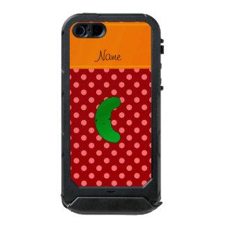Raya roja del naranja de los lunares de la funda para iPhone 5 incipio ATLAS ID