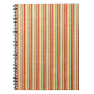 Raya roja resistida cuaderno