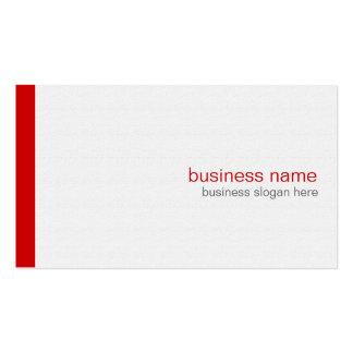 Raya roja simple moderna elegante llana en blanco tarjetas de visita