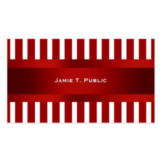 Raya roja y blanca, cinta roja tarjetas de visita
