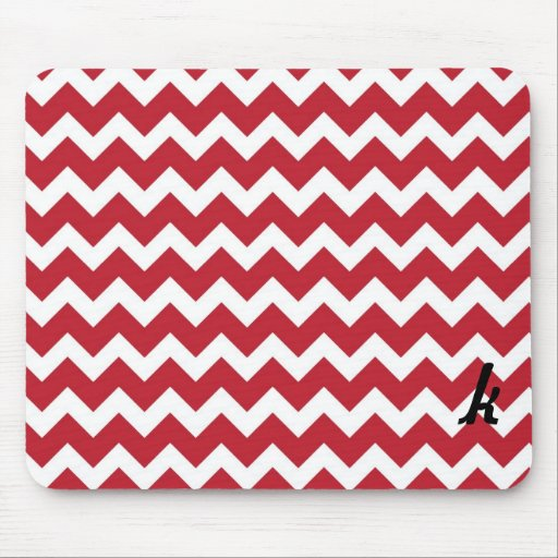 Raya roja y blanca de Chevron Mousepad