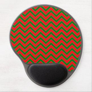 Raya roja y verde del zigzag de Chevron del Alfombrilla Gel