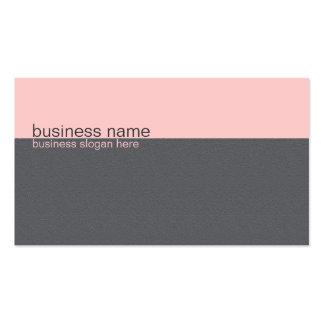 Raya rosa clara/gris simple elegante llana plantillas de tarjeta de negocio