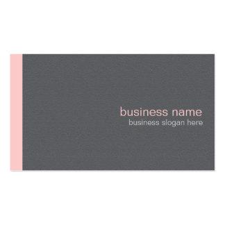 Raya rosa clara simple moderna elegante llana tarjetas de negocios