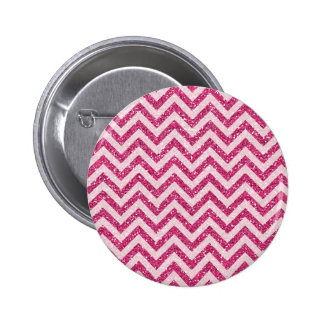 Raya rosada brillante de Chevron del brillo Pin Redondo De 2 Pulgadas