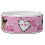 Raya rosada de Cuties del barro amasado - personal Tazon Para Perro