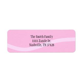 Raya rosada etiqueta de remite