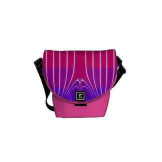 Raya rosada linda de la sandía bolsas de mensajería
