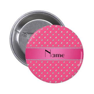 Raya rosada personalizada de los diamantes rosados pin