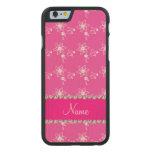Raya rosada rosada conocida personalizada de las funda de iPhone 6 carved® de arce