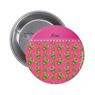 Raya rosada rosada personalizada del corazón de pin redondo 5 cm
