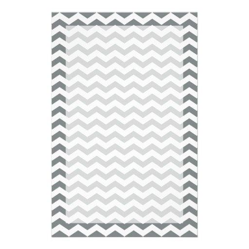 raya simple, elegante, moderna del zigzag del papeleria personalizada