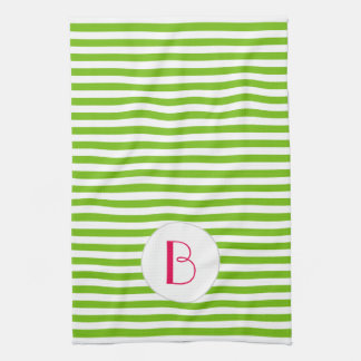Raya Verde-Blanca de la cal•Personalizado Toallas