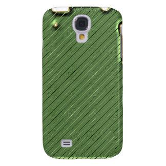 Raya verde con la frontera iPhone3G del oro