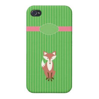 Raya verde del Vixen iPhone 4 Carcasa
