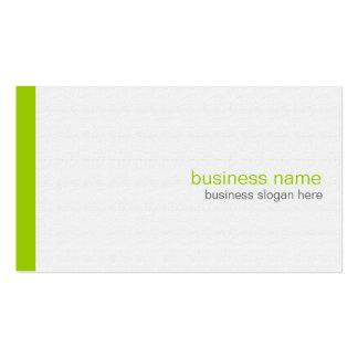 Raya verde simple moderna elegante llana en blanco tarjeta de visita